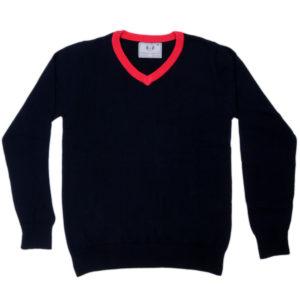 Cross Knits Plain Full Sleeves Men's V-Neck Sweatshirt