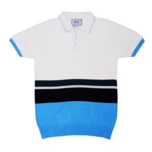 Cross Knits Striped Men's Half Sleeves Multicolor Sweatshirt
