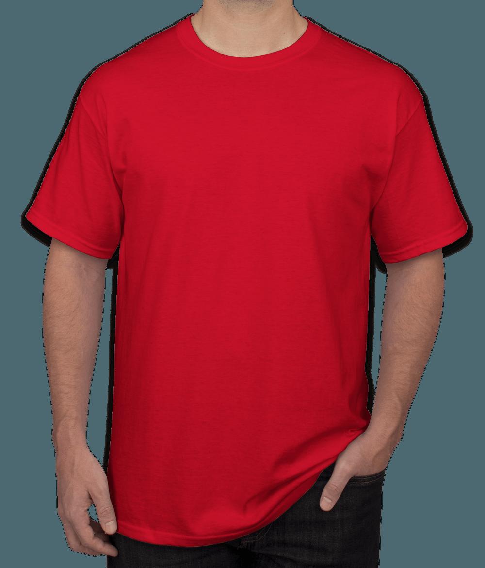 Men Red T Shirt Product Customization Peersandcheeers