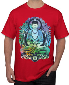 Peace buddha red