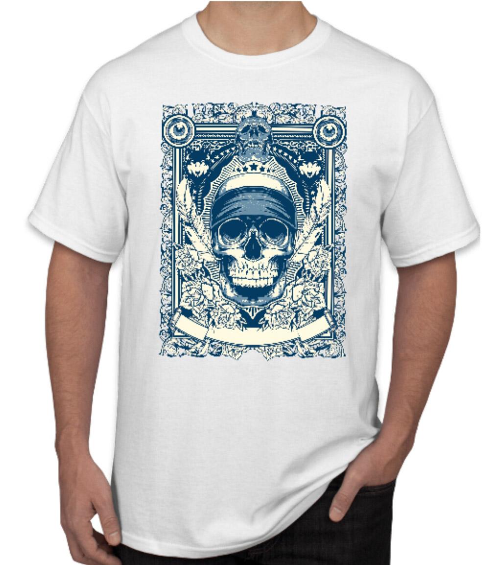 Skull half sleeve t shirt for men peersandcheeers for Half sleeve t shirts for men