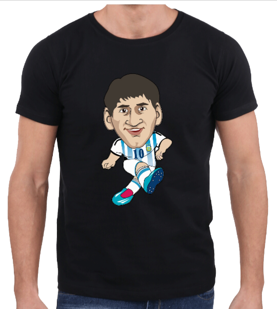 size 40 a6d52 59620 Messi – HALF SLEEVE MEN'S T-SHIRTS